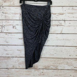 Stella Luce space gray gathered skirt asymmetrical
